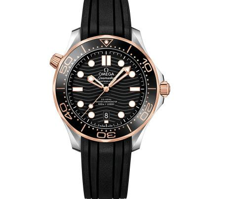 The Omega Seamaster with gold and steel case looks more luxurious.
