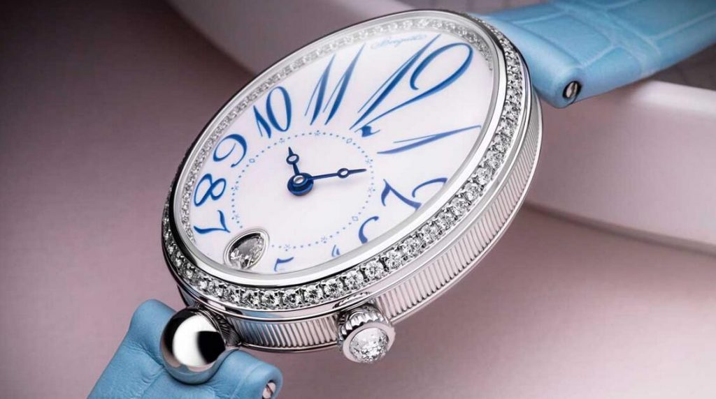 Online fake watches maintain freshness with light blue color.