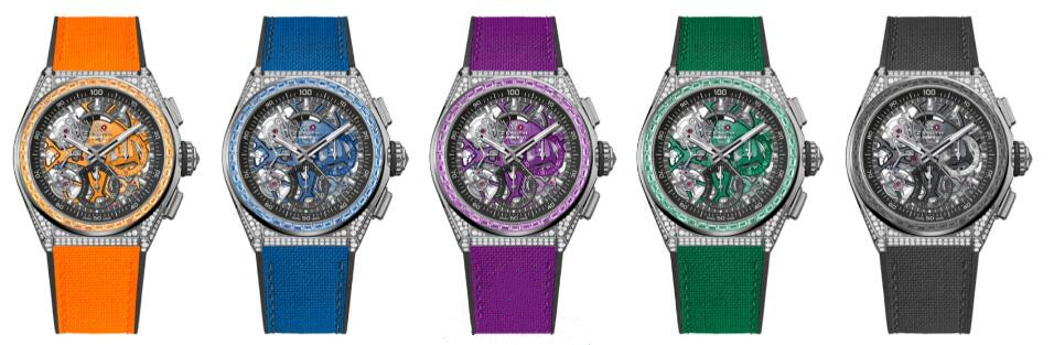 Best quality fake watches are showy with black, orange, blue, purple and green colors.
