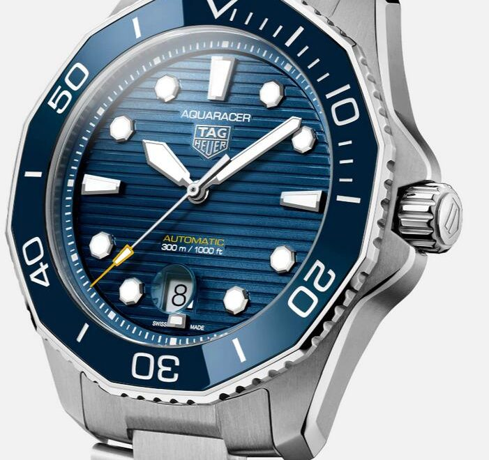 Swiss fake watches look trendy with blue color.